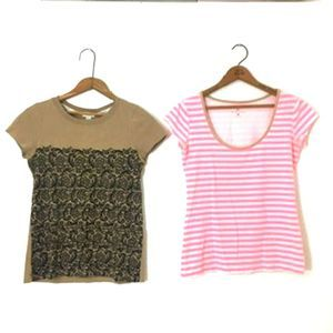 RODARTE & NY & Co. - Two Piece Tan Shirt Set